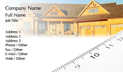 Log Cabin Business Card Template